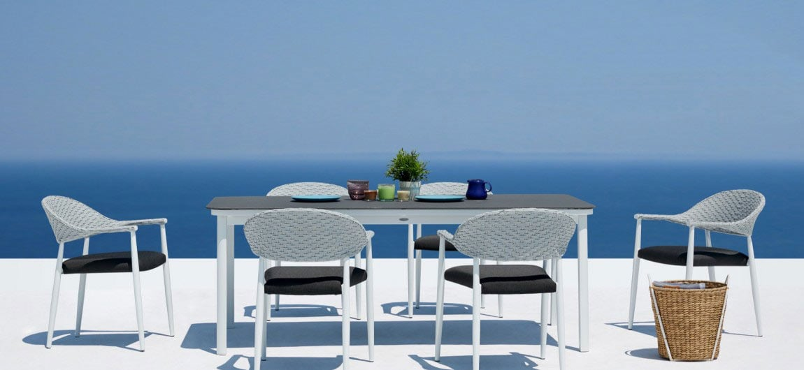 Rio Outdoor Dining Furniture White