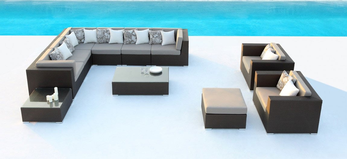 Paris Rattan Outdoor Furniture Bronze