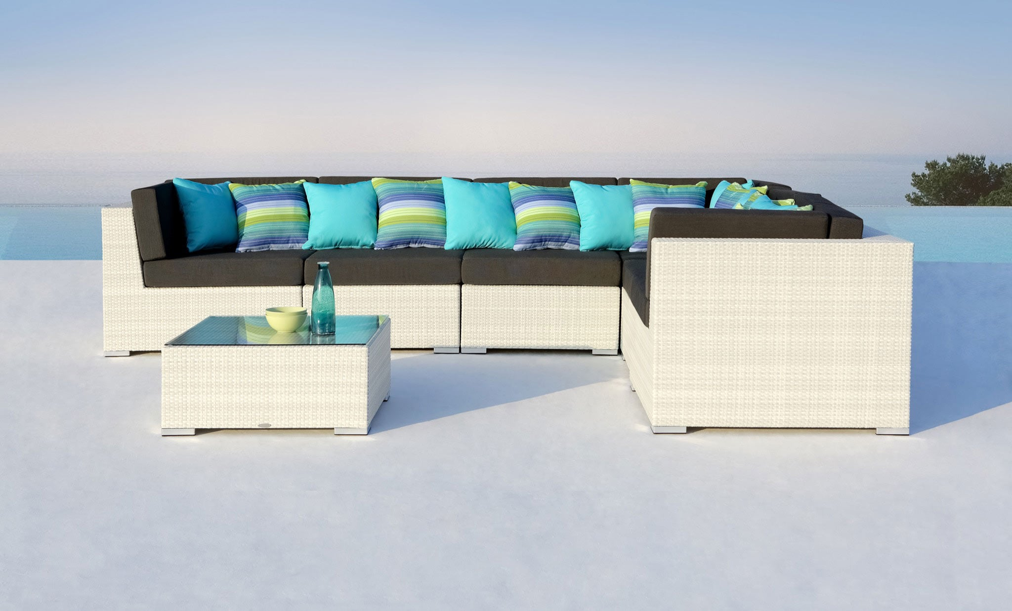 White Rattan Outdoor Furniture