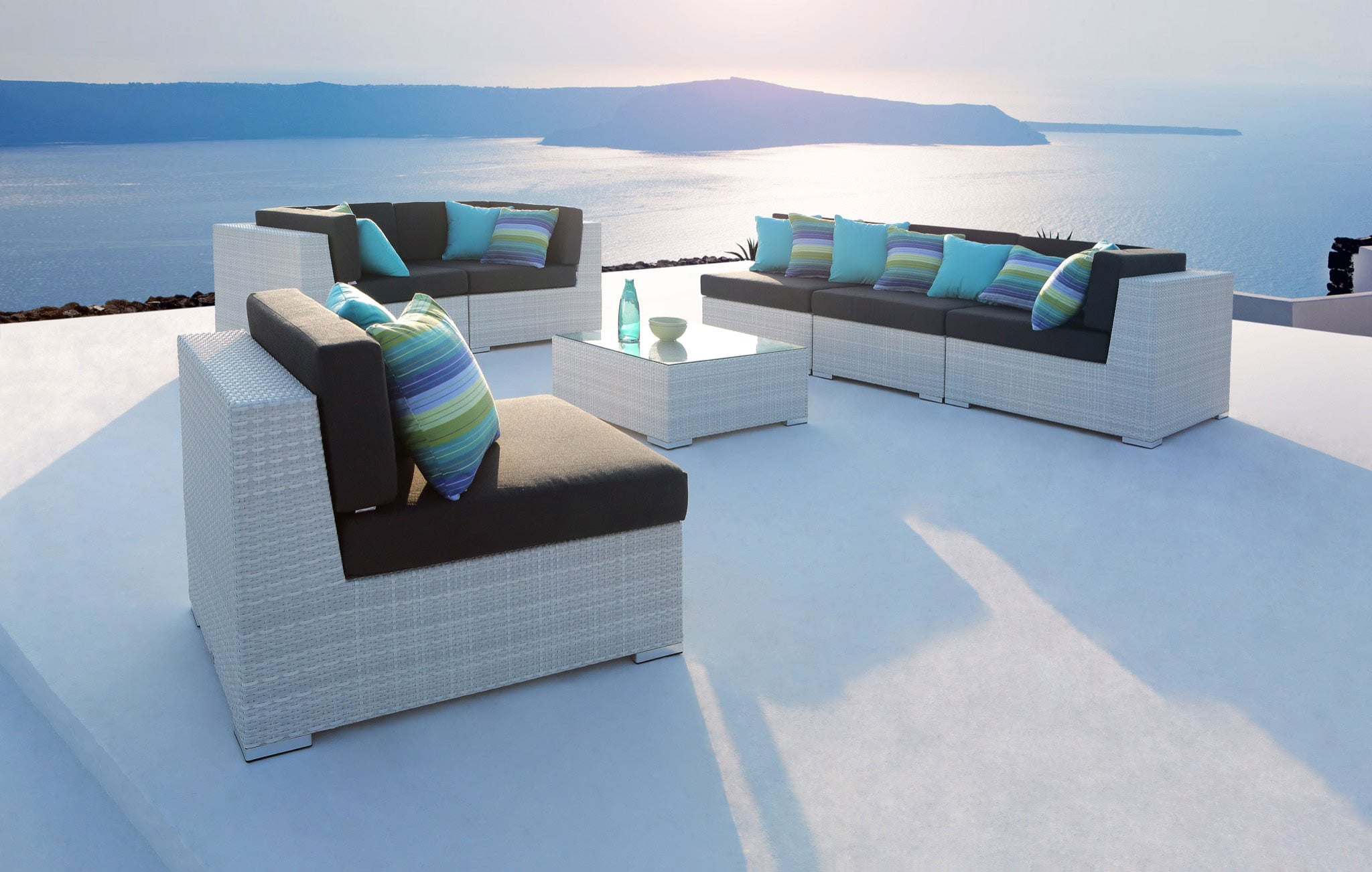 Paris Rattan Outdoor Furniture White