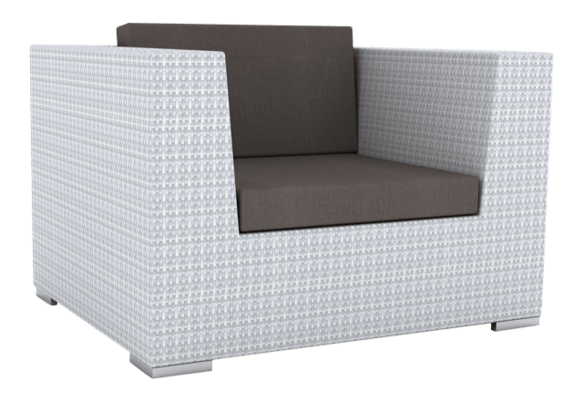Paris Rattan Outdoor Lounge Chair White