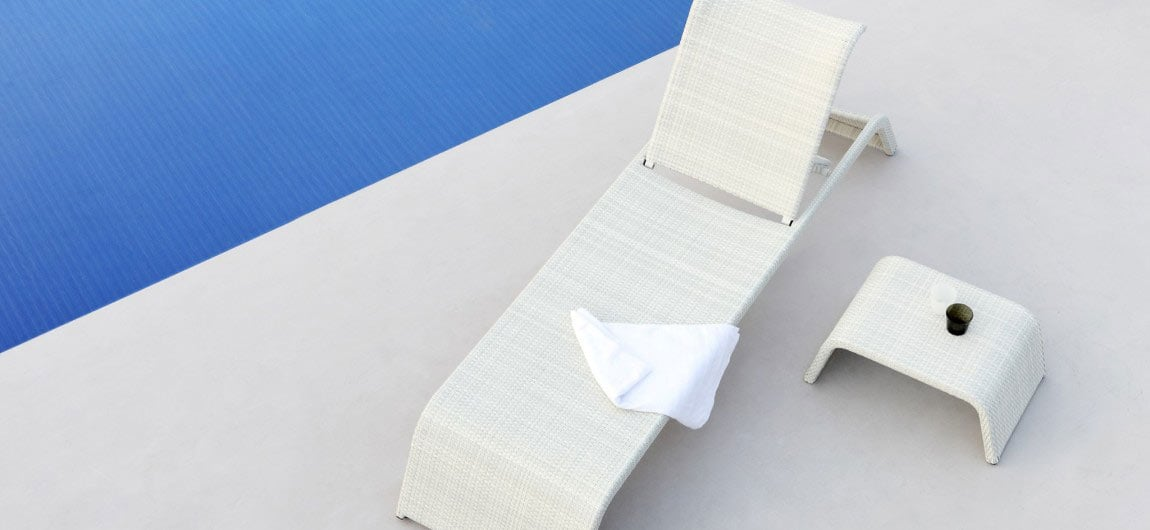 Florida Sun Lounger White