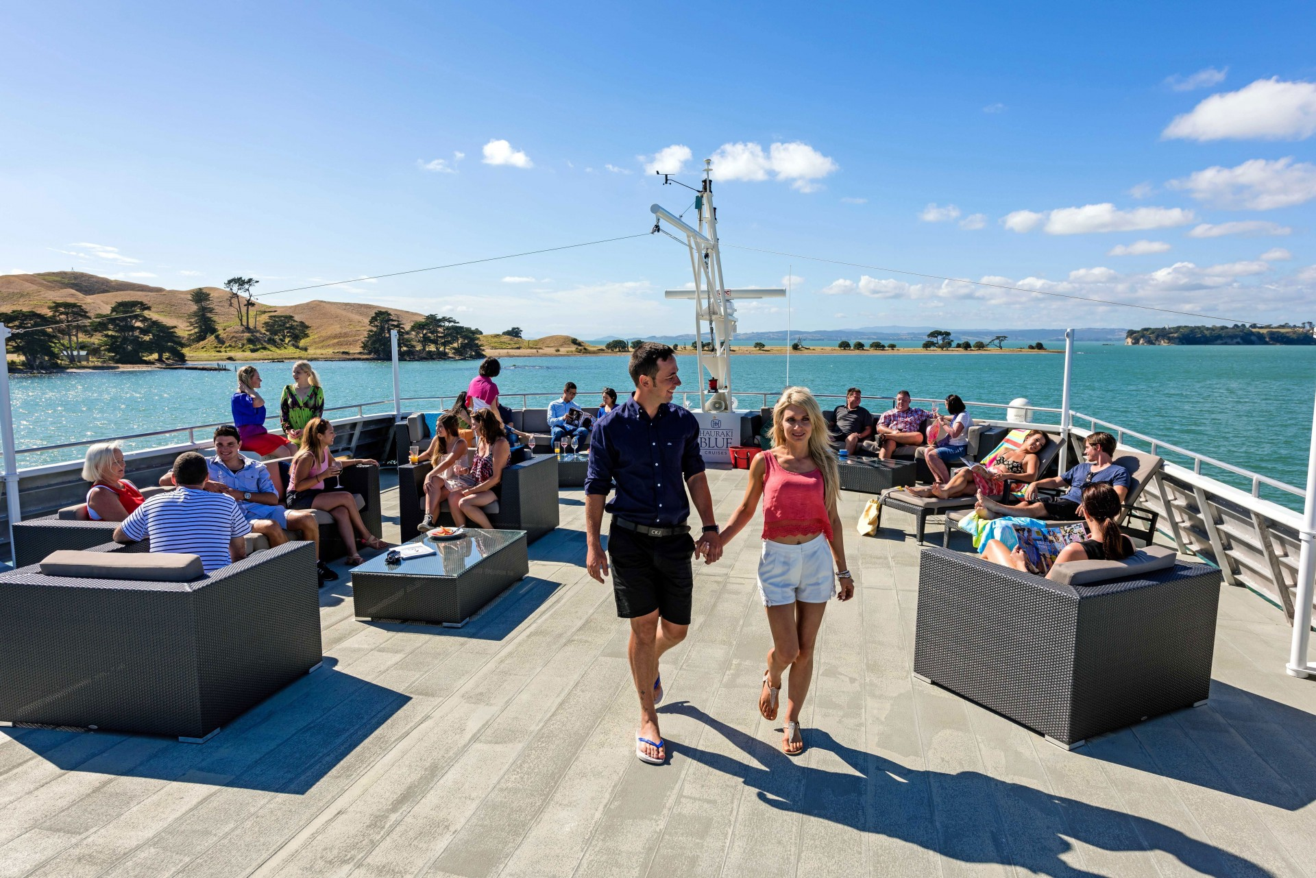 OceanWeave Outdoor Furniture Auckland used on Hauraki Blue Cruises