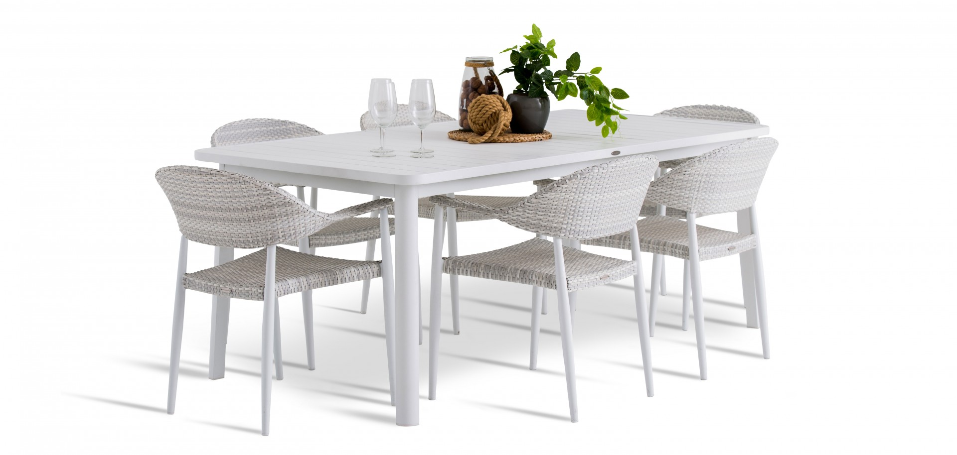 Rio Outdoor Chairs with White Table