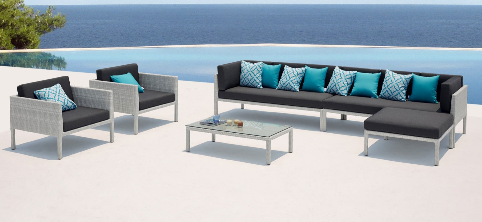 Florence Wicker Outdoor Furniture White