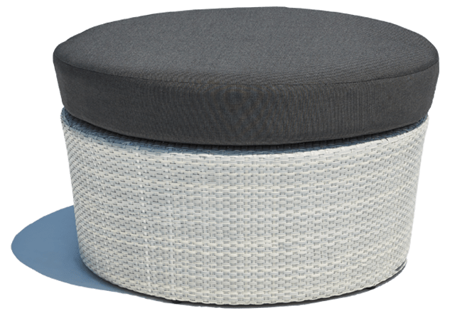 Barbados Outdoor Ottoman White