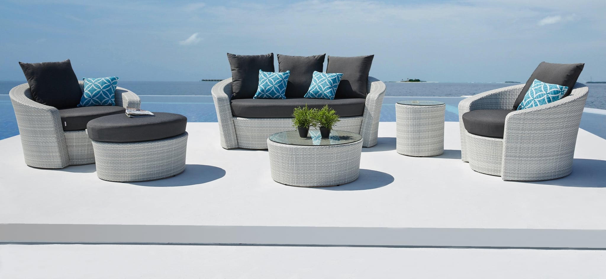 Barbados White Outdoor Furniture Outdoor Wicker Furniture