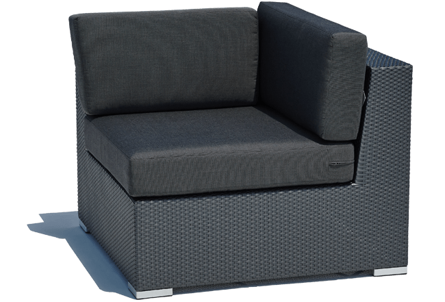 Black Outdoor Corner Sofa Paris