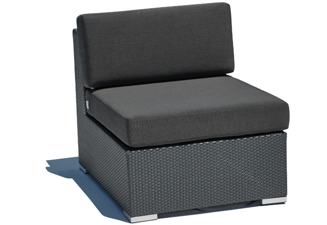 Black Outdoor Middle Sofa Paris