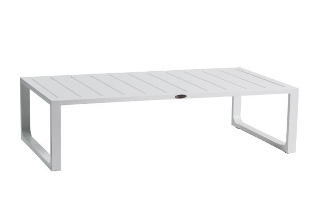 Outdoor Aluminium White Coffee Table