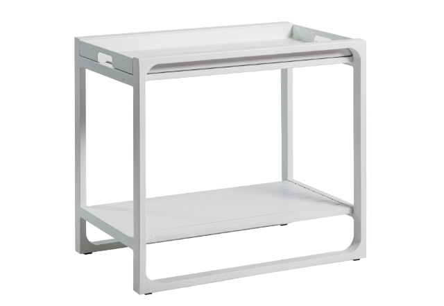 White Outdoor Side Tray
