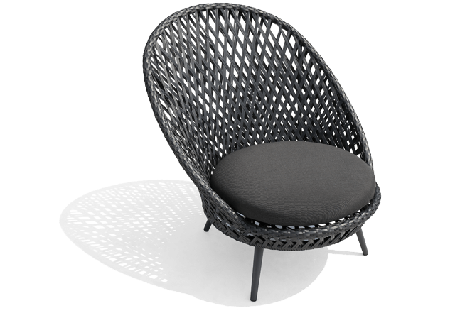 Slate Grey Wicker Outdoor Furniture Siena
