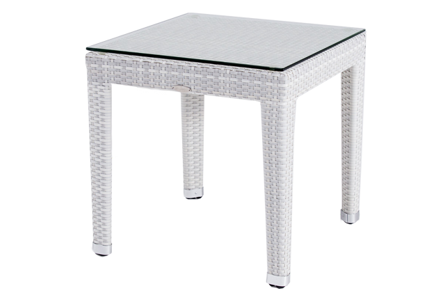 Venice White Outdoor Side Table