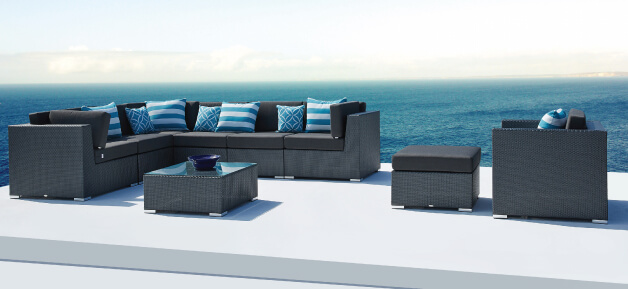 Black Outdoor Lounge Furniture Paris
