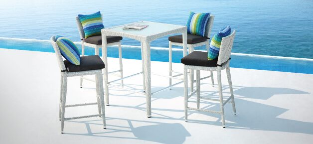 White Outdoor Bar Stools