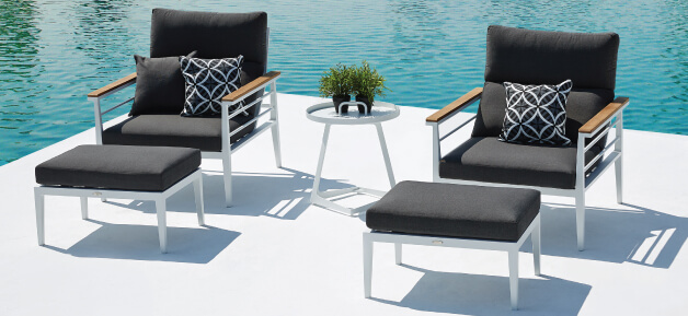 White Outdoor Lounge Chairs Rome