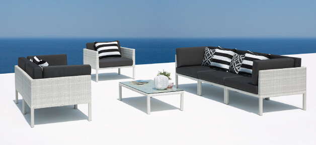 Wicker Outdoor Lounge Furniture White