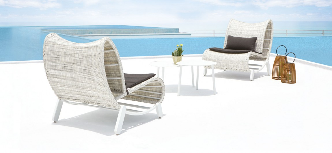 Natuna Outdoor Lounge Chairs White