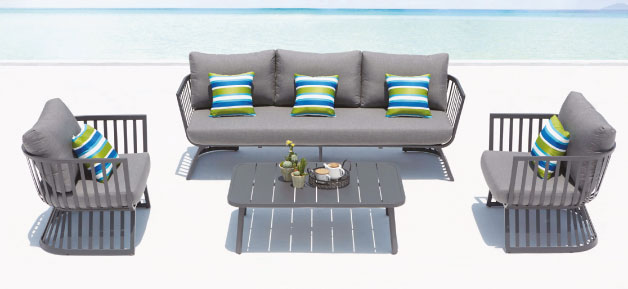 Dark Grey Outdoor Lounge Furniture