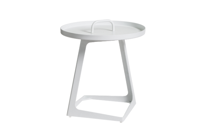 Orbit White Outdoor Side Table