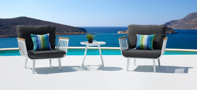 White Outdoor Lounge Set - Sweden