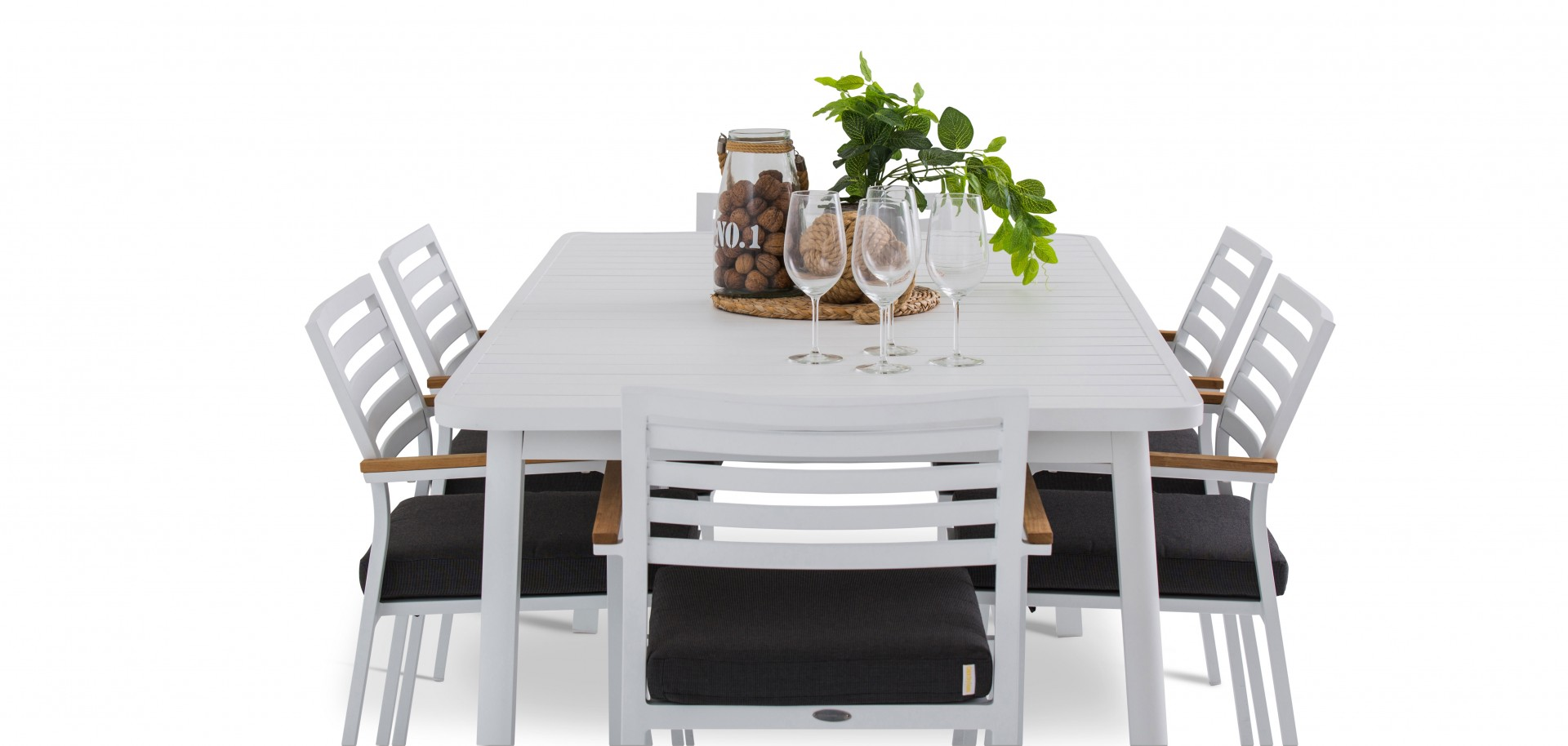 Athens Outdoor Chairs with White Table