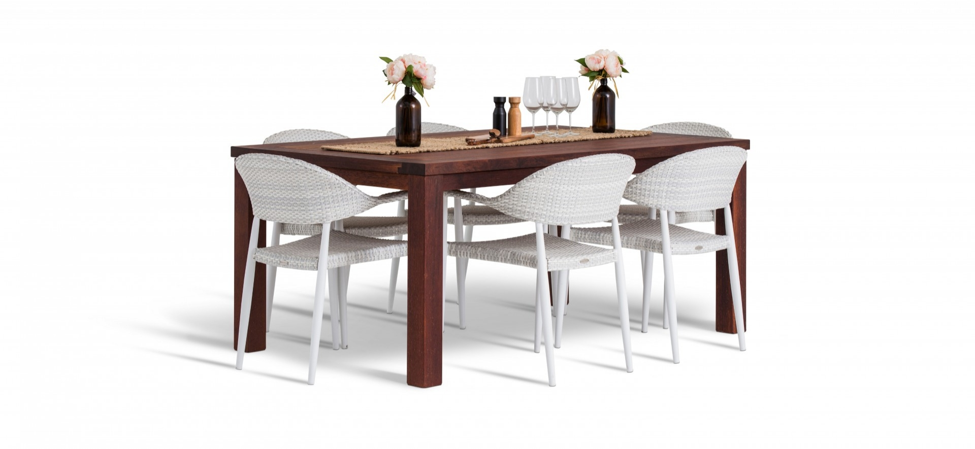 Rio Outdoor Chairs with Kwila Table