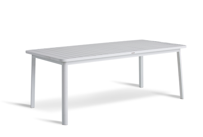 White Seat Outdoor Table