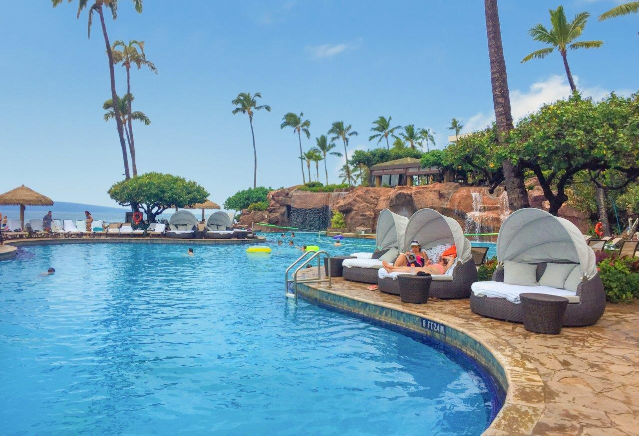 Hyatt Regency Maui Resort and Spa Rotating Outdoor Daybeds