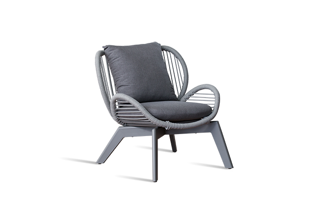 Charcoal Outdoor Lounge Chair - Seville