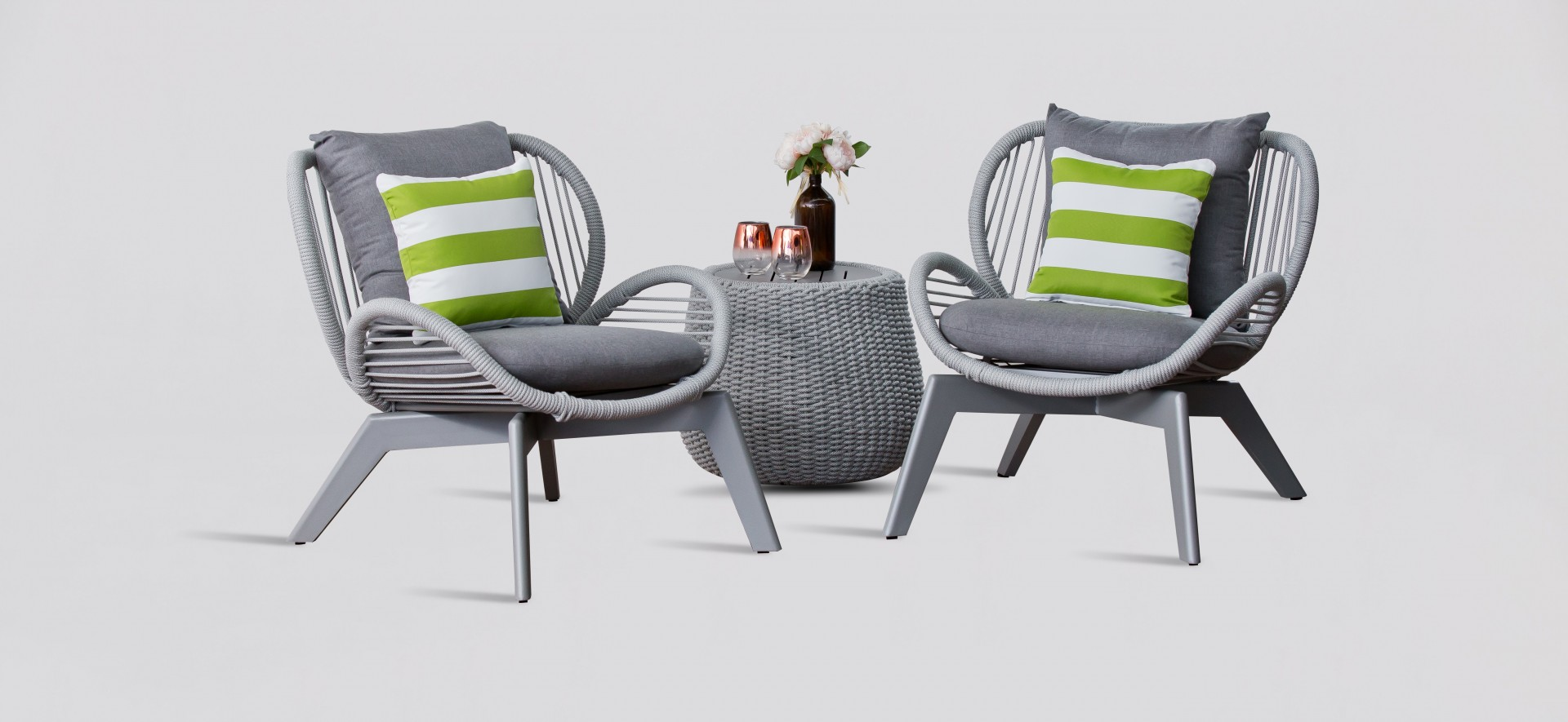 Charcoal Outdoor Lounge Chairs - Seville