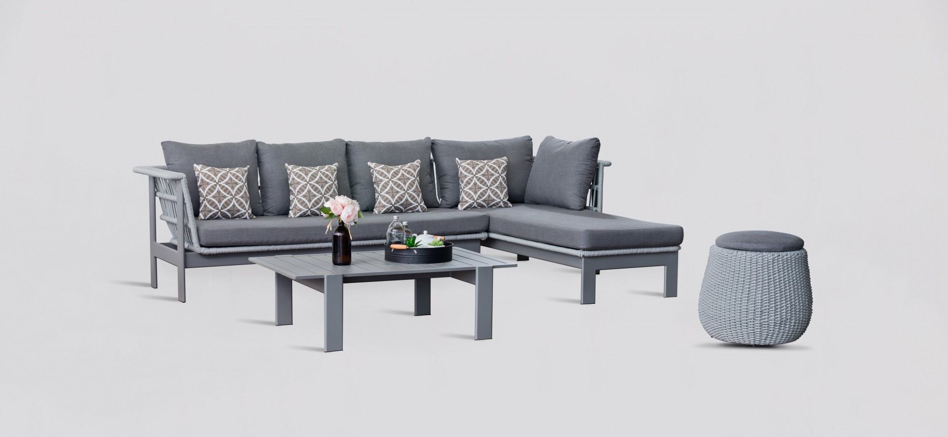 Grey Outdoor Lounge Set - Valencia