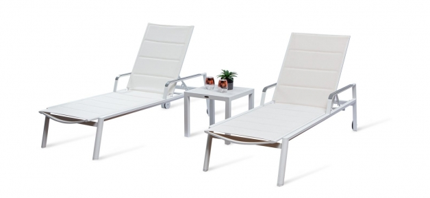 Capri White Outdoor Sun Lounger