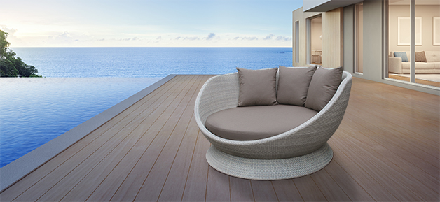 White Outdoor Daybed Mauritius